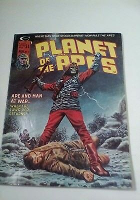1975 Planet Of The Apes Magazine # 11 * Free Shipping In Canada & Usa Mainland *