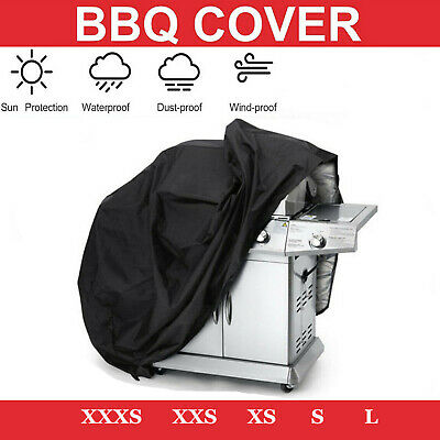 S/M/L BBQ Cover Heavy Duty Waterproof Barbeque Patio Grill Protector Black