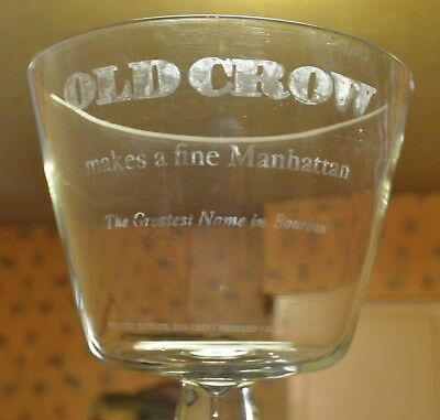 Vintage Old Crow Advertising Giant Whiskey Bourbon Glass Sign