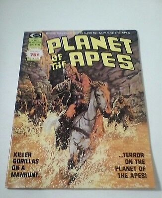 1975 Planet Of The Apes Magazine # 14 * Free Shipping In Canada & Usa Mainland *