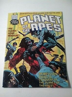 1976 Planet Of The Apes Magazine # 18 * Free Shipping In Canada & Usa Mainland *