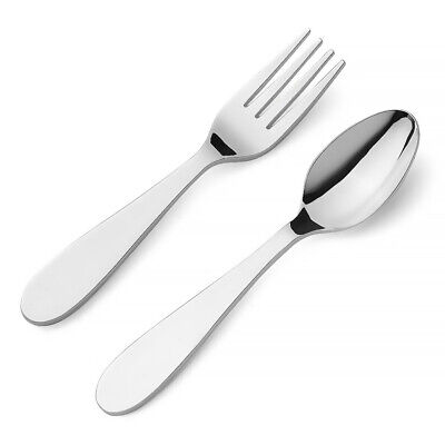 NEW Whitehill Plain Child's Spoon & Fork Set