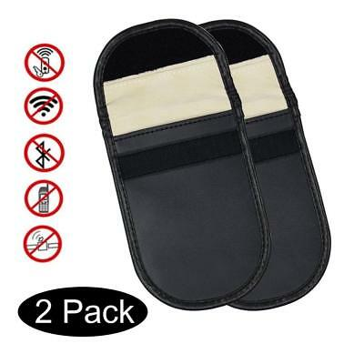 Keyless entry fob guards x2 Car key-lock signal blockers Blocking pouch/case