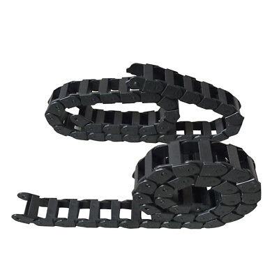 "R38 18x37 Nylon Cable CNC Machine 1M 40"" Drag Chain Carrier Towline Plastic Wire"