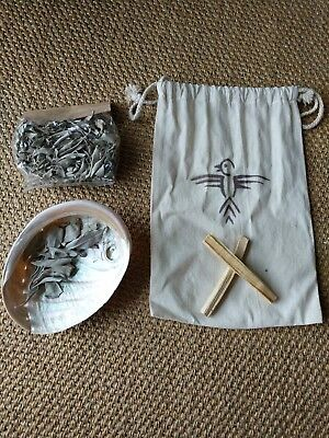 White Sage Loose Leaf Abolone Shell Smudge Kit 1 ounce (28g) Palo Santo Sticks