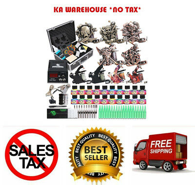 Starter Complete Tattoo Kit Professional Machine Gun Power Supply Needle Ink Set
