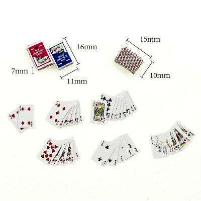 Games Poker Playing Cards Miniature Dollhouse Accessory For Re-ment Figure