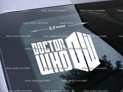 Doctor Who tv show new decal sticker *free ship dr who