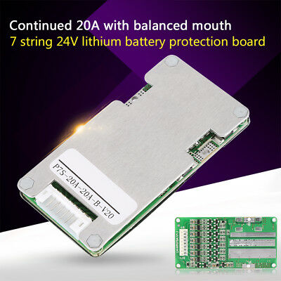 24V 20A 7S Lithium Li-ion LiFePO4 Battery Battery BMS Protection Board+Balance
