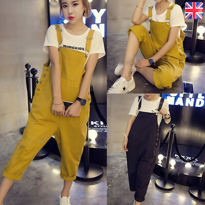 Women Sleeveless Dungarees Overall Long Playsuit Jumpsuit Romper Pant Trousers