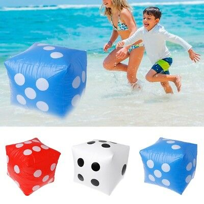40cm Giant Inflatable Dice Beach Garden Party Game Outdoor Children Kid Toy Gift