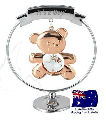 """CRYSTOCRAFT """"Its a Boy"""" Gift - Nursery Christening Baby Shower"""