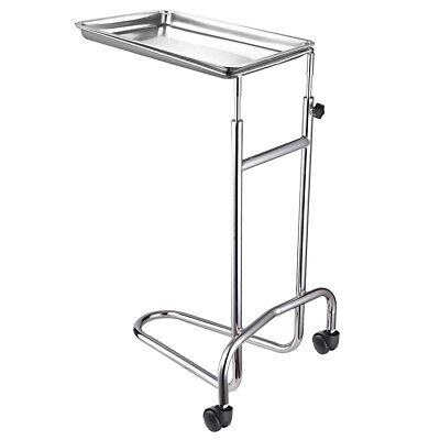Medical Salon Stainless Steel Rolling Tray Stand Tattoo Body Piercing Instrument