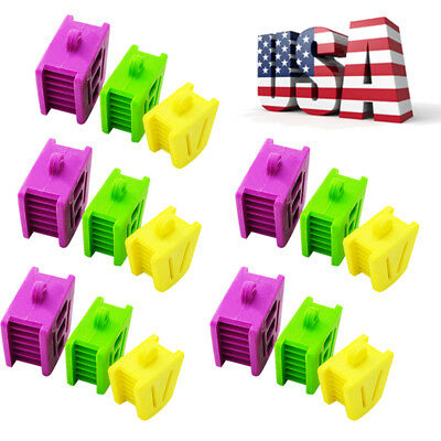 15PCS Dental Flexible Silicone Latex Mouth Prop Bite Blocks Size Adult/Child USA