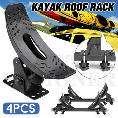 2 Pairs Universal Kayak Arm Roof Rack Canoe Boat Car Top Mount Carrier Holder