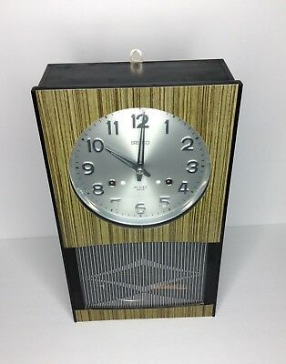 Vintage Japan Seiko Mechanical Pendulum Wall Clock 30 Day