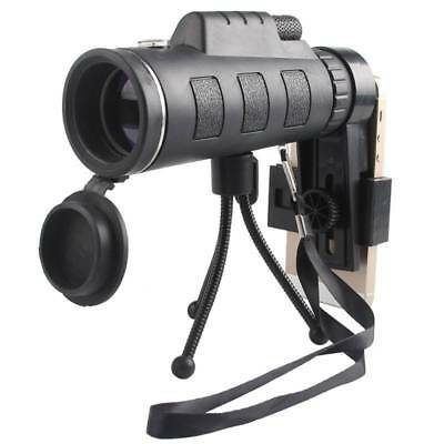 40X Zoom Optical Night Vision Monocular Scope Telescope + Tripod For Cell Phone
