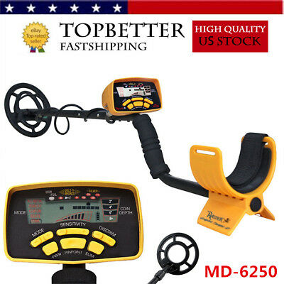New Md-6250 Metal Detector Gold Digger Light Hunter Deep Sensitive Search Lcd Rh