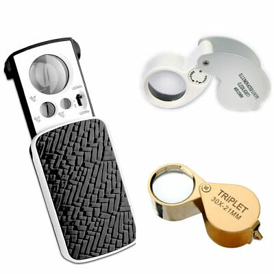 Pockeg Jeweler Lens 30 X 21MM Loupe Magnifying Eye Glass Magnifier Loupe