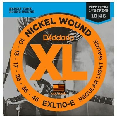 D'Addario EXL110 Electric Guitar Strings with Extra E string *3 day super sale*