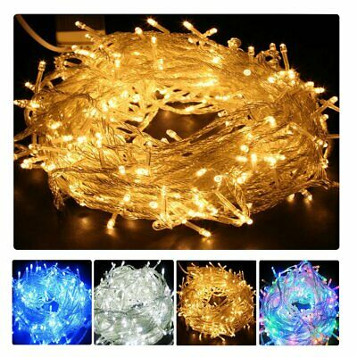 LED Battery&Solar Power Fairy Lights Wedding Party Christmas Warm White Bedroom