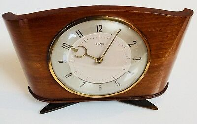 Vintage/Retro Metamec Wooden Wind Up Mantle Clock