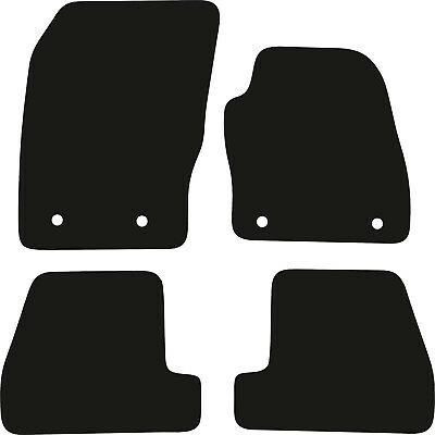 Ford Focus (2015 - 2018) Tailored Black Checkered Rubber Car Floor Mats
