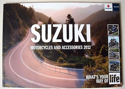 Suzuki . Motorcycles and Accessories 2012 . Sales Brochure