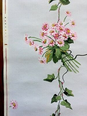 Wallpaper Art Deco 1930 Papier peint ancien Rose Flowers 6/8 M