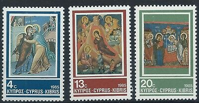 CYPRUS 1985 SG670-672 Christmas. Frescoes from Cypriot Churches Set Mint MNH
