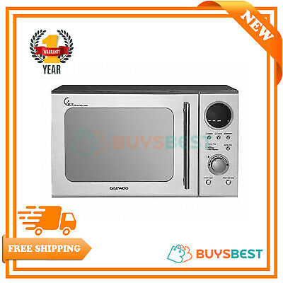 Daewoo 20L Duo Plate Touch Control Microwave In Stainless Steel 800W- KOR3000DSL