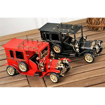 Blesiya Vintage Metal Car Model Collection Toy Gift Vehicle Car Toy Ornament