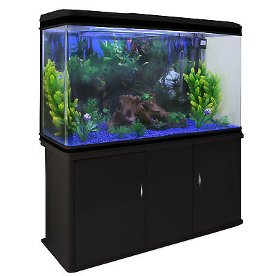 Fish Tank Aquarium Cabinet Tropical Marine & Complete Set Up 4ft 300 Litre
