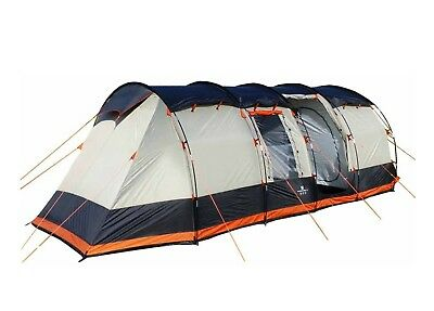 8 Berth Tent Family Camping Eight Man Tent - OLPRO Wichenford 2.0 Grey & Orange