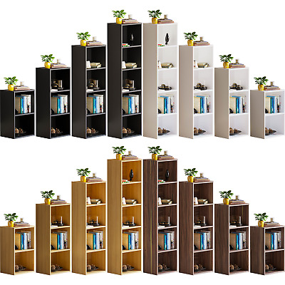 Oxford Cube Bookcase 2 3 4 5 Tier Shelf Display Wood Furniture Storage Unit