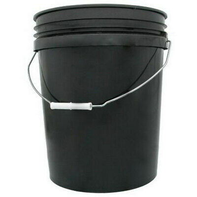 Black Pail Bucket and Lid 20L  - Food Grade | Hydroponics | DWC | Water Res