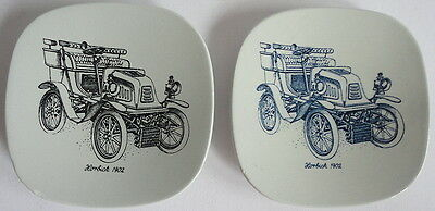 Two 1960's Nymolle Art Dishes Artist Hoyrup Denmark Horbick 1902 Antique Car