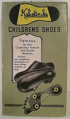 Kalisteniks Vintage 1940's Children's Shoe Box Only Army Green Yellow Cool