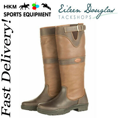 HKM Ladies Scotland Spring Walking Waterproof Horse Riding Long Country Boots
