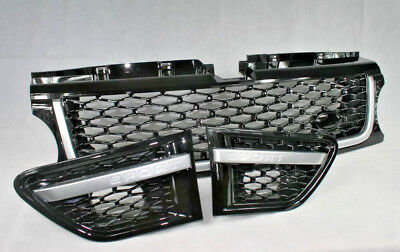 Gloss Black Grille and Side Vents with Silver Trim for: Range Rover Sport 05-09