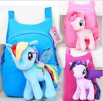 Cartoon Girls Kids Backpack Child Plush School Bag Travel Leisure Shoulder Bag