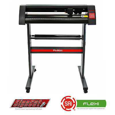 "Vinyl Cutter Plotter 28"" Cutting With Graphics & Signmaking Software Bundle"