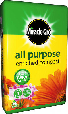 Miracle-Gro All Purpose Enriched Compost 20L Potted Plants Flowers Potting Soil
