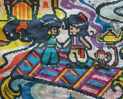 Aladdin Inspired finished cross stitch completed.