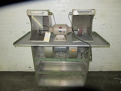 Red Wing Double End Polishing / Polisher System Model #29 With Bench