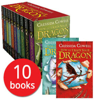 How to Train Your Dragon Box Set Collection - 10 Books