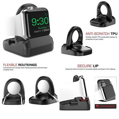 Black Apple Watch Series 3 2 1 Charging Charger Night Stand Mode 38Mm And 42Mm