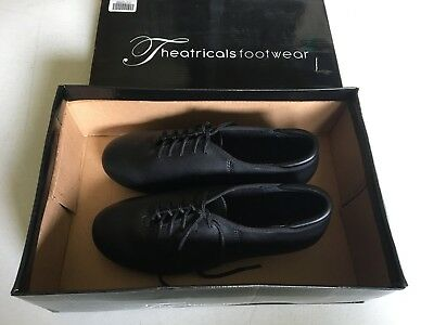 THEATRICALS Tap Dance Lace Up Shoes Black Style T9500 Women's Size 6