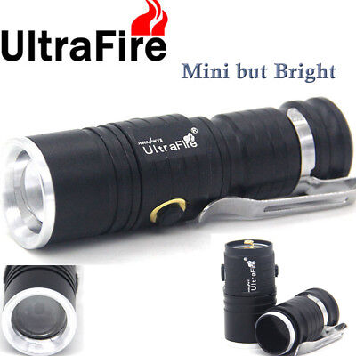 Ultra Flashlight Zoomable T6 LED CR123A 3Mode 30000LM Hunting Camping Light JNL