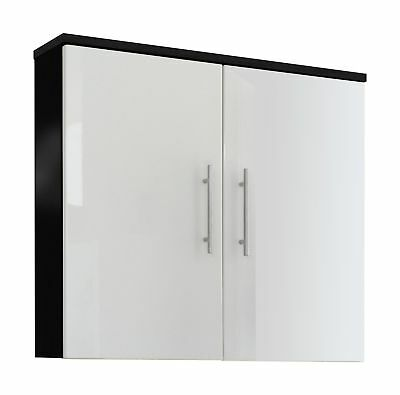 Posseik 5612 99 Hanging Cabinet, Anthracite/ High Gloss White